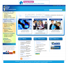 Site internet Europe Direct