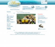 Site internet E-commerce Huitre Allary