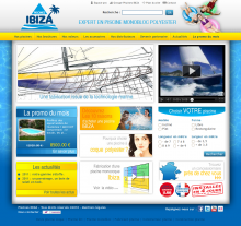 Site internet Piscines Ibiza